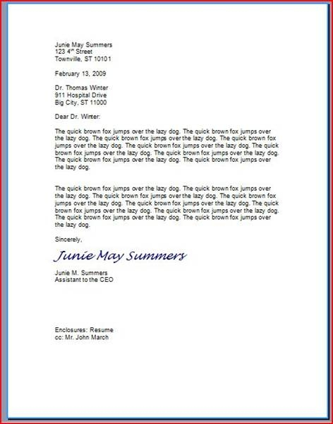 How to Type a Professional Letter – Professional Business Letters