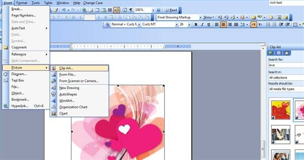 how to make greeting cards in word