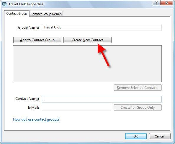how to make a group contact list on email