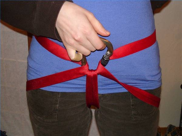 How To Tie A Climbing Harness With Webbing Gone Outdoors