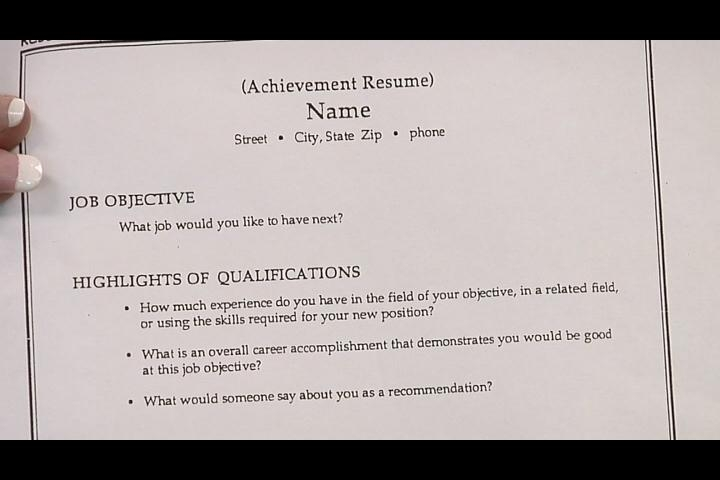 Video How to Write a CV for PartTime Work – Objective Part of a Resume