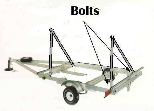Building Frame Bolt : How to build a kayak boat trailer gone outdoors your