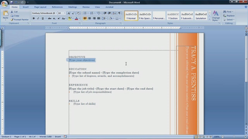 Video: How to Create a Resume With Microsoft Word 2007 | eHow