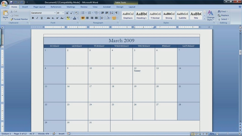 Video: How to Make a Calendar in Microsoft Word 2007 | eHow