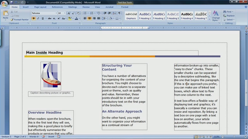 Video: How to Create a Brochure in Microsoft Word 2007 | eHow