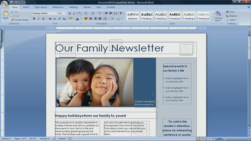 Video: How to Create a Newsletter in Microsoft Word 2007 | eHow