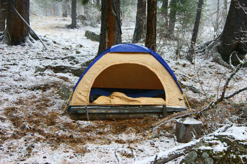 How to Stay Warm Tent Camping in Cold Weather | Gone ...