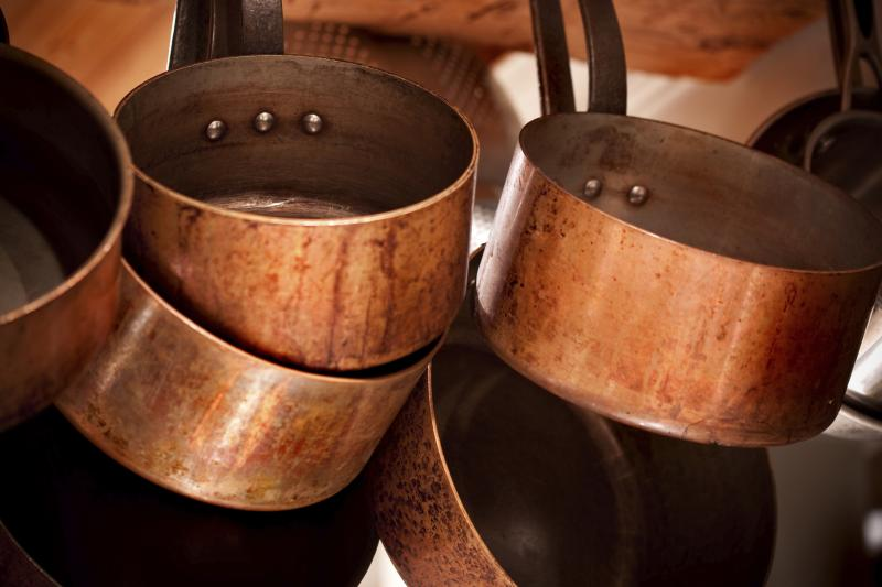 Cooking with copper pots and pans