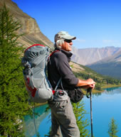 Peter Potterfield Hiking in Banff National Park