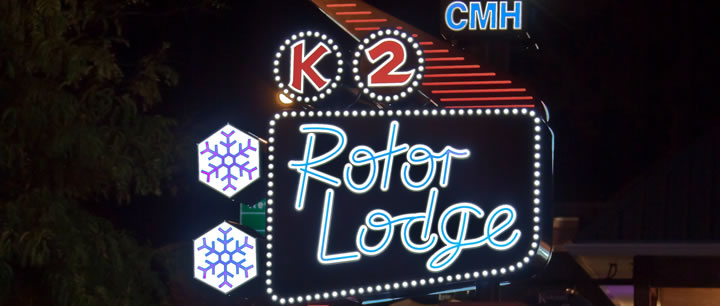 CMH K2 Rotor Lodge Sign