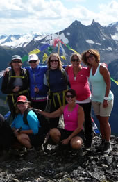 Women's Adventure Travel with CMH Bodacious in the Bugaboos