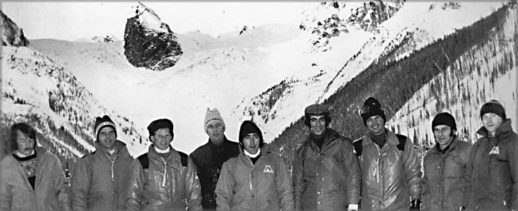 CMH Guides at Bugaboo Lodge  - circa 1965