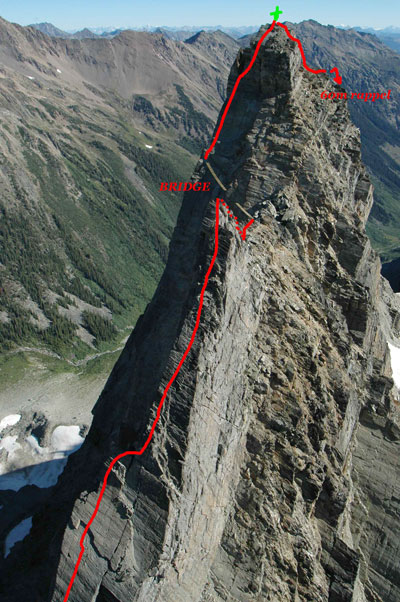 CMH Hiking Trips - Via Ferrata - Route