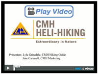 What is Heli-Hiking? Live CMH Chat