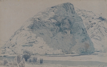 Display_met_wyant_mountain_landscape_drawing_