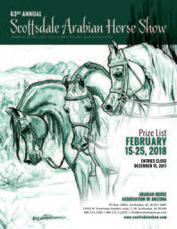 DRAFT Schedule for the 2018 Scottsdale Arabian Horse Show