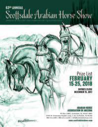 Scottsdale Show Schedule