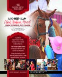 RIDE ~ MEET ~ LEARN About Arabian Horses!