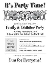 ITS PARTY TIME! Family & Exhibitor Party