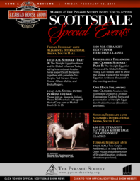 Scottsdale Arabian Horse Show News for Friday, February 12, 2016