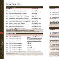 2014 Show Schedule REVISED