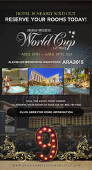 Book your hotel now for the 2015 Arabian Breeders World Cup