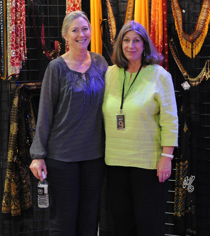 Commercial Vendor Nancy Gates of Heirloom Halters (right) and Kelly Charpentier