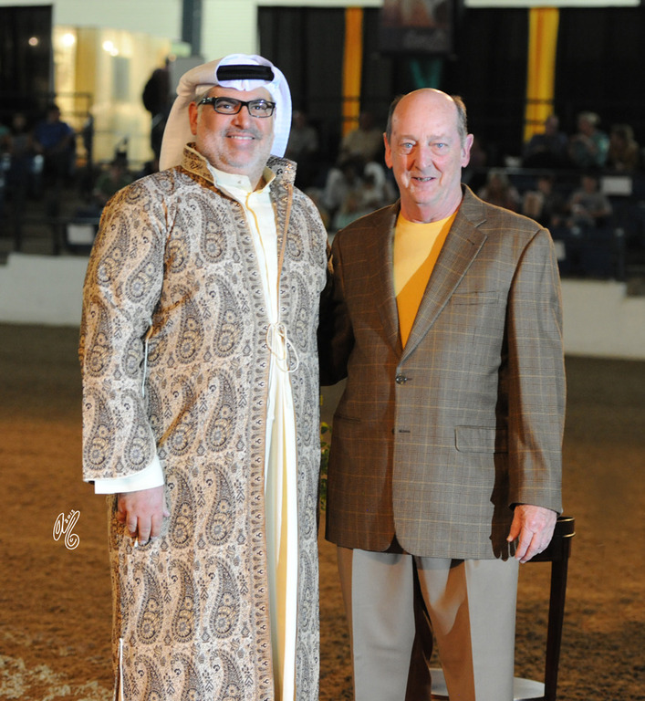 Judge Talal Al Mehri and Bob Miars, the President of The Pyramid Society