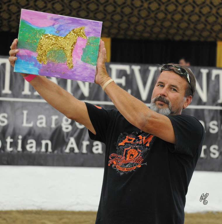 Art created by the kids was auctioned off