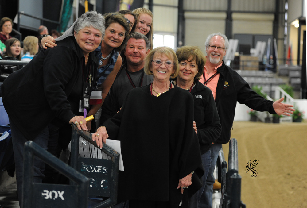 Judy Sirbasku--the Exclusive 35th Anniversary Signature sponsor: Judy with her Arabians Ltd gang!