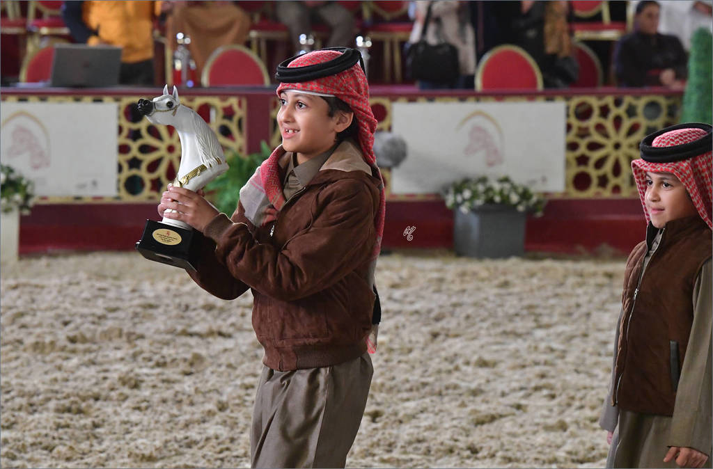 Celebrating for Al Waab Farm as Fares Al Rayyan became the Souq Waqif Peninsula Gold Champion Stallion