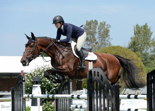 Four-time Olympic veteran and current Longines World Cup Champion, Beezie Madden and Jiva won the $10,000 Open Jumper Section B Presented by Shamrock Ventures © Shawn McMill