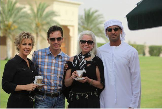 Riyan, Scott, Kim & Abdelaziz at Dubai Arabian Stud