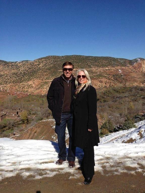 David & Kim in the beautiful countryside of Marrakech