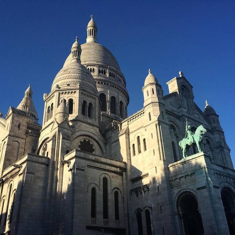 The beautiful Sacre-Coeur in Paris
