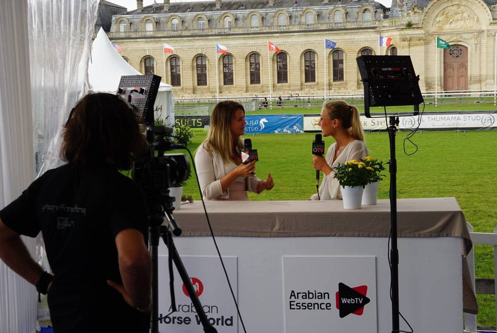 And a star is born... the already famous Hilke Cécile De Bruycker being interviewed for the 2nd edition of Arabian Insider by Arabian Horse World and Arabian Essence Web TV.