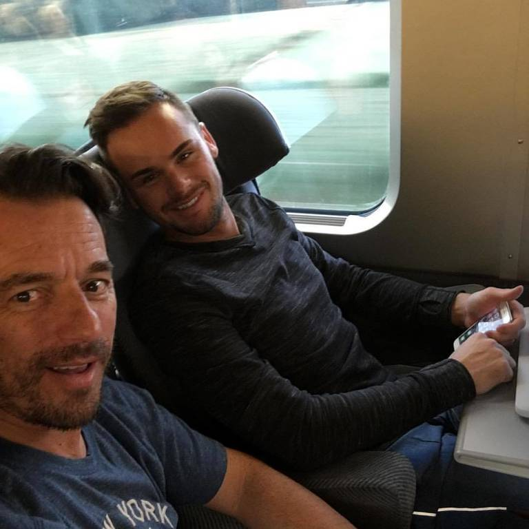 On the train from Chantilly to Italy
