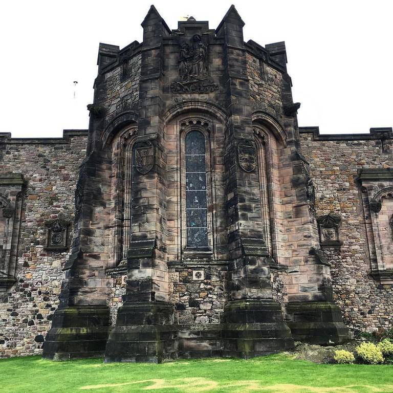 The Edinburgh Castle where Mary Queen of Scots gave birth to King James VI