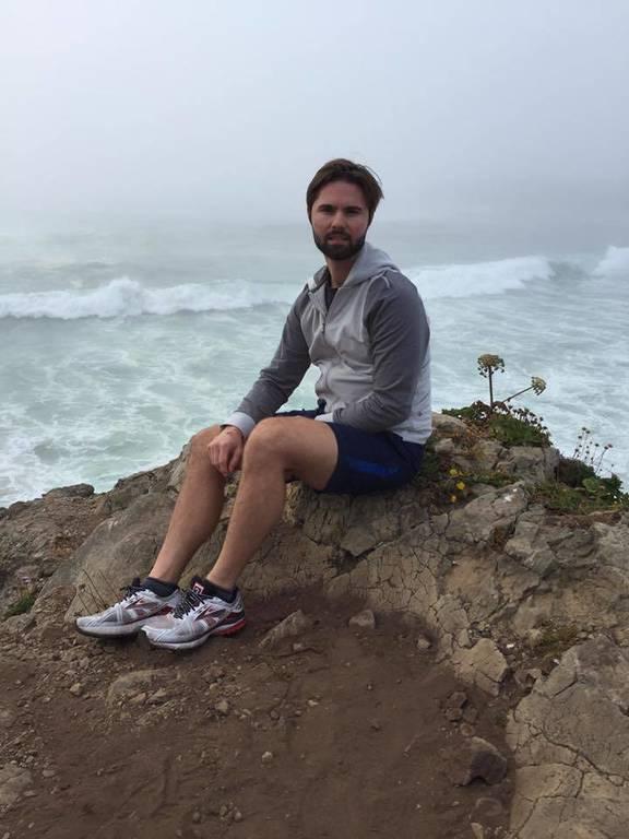 Zack on a rock in Mendocino California