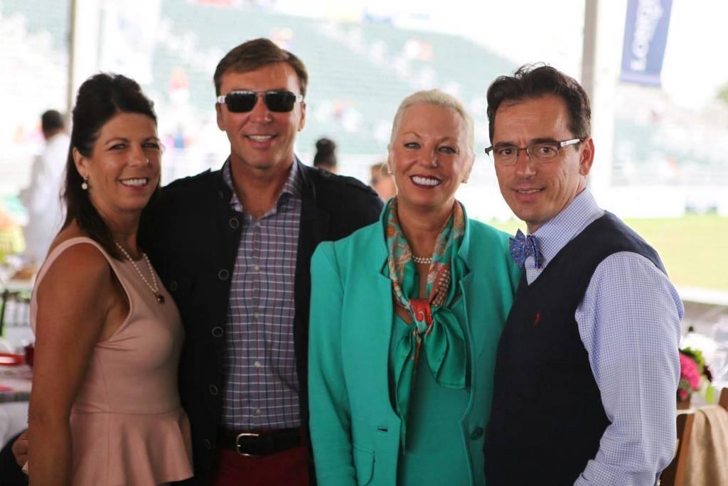 Sandy, David, Kim & Scott having a super time in the Hamptons