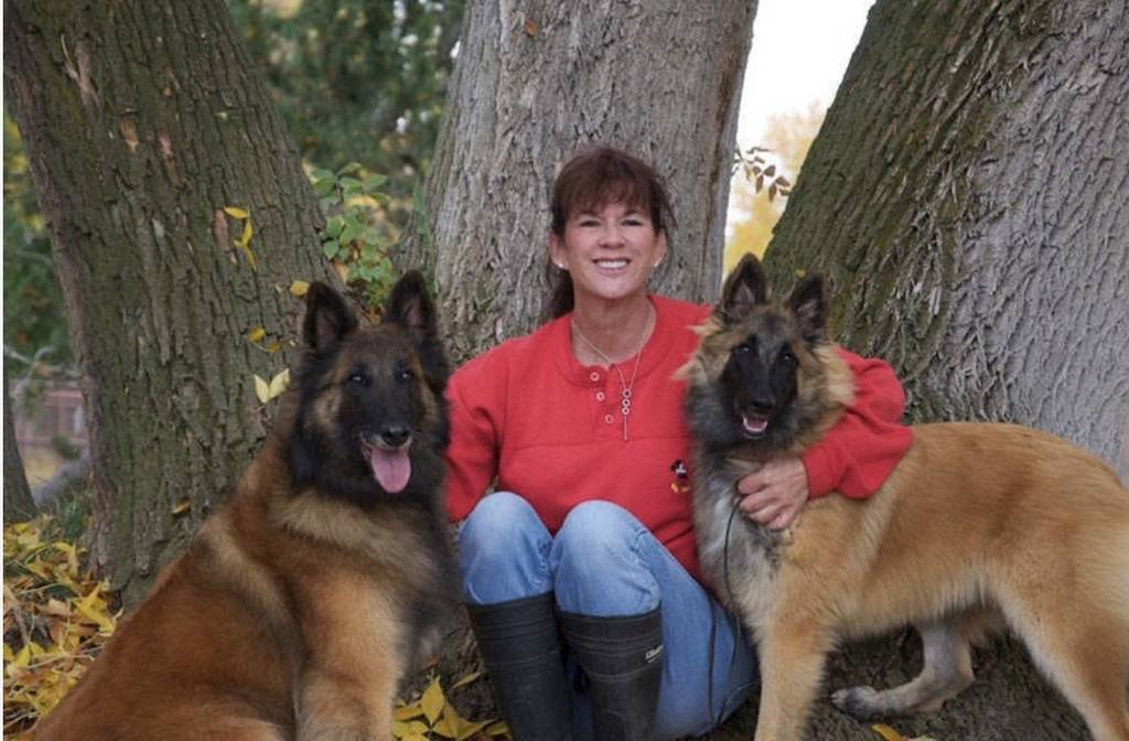 Michele and her beautiful dogs!