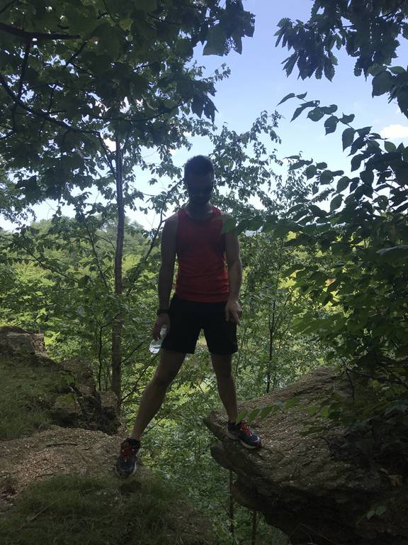 Zack hiking in Clevland