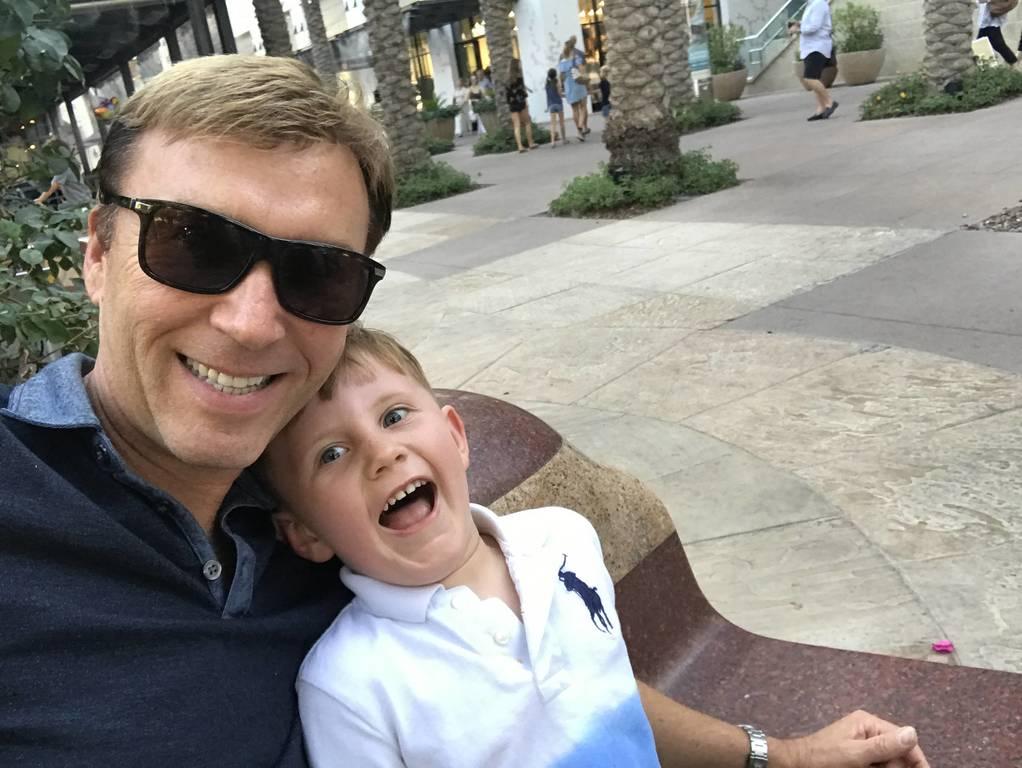 David & Chase having fun at the horse show!