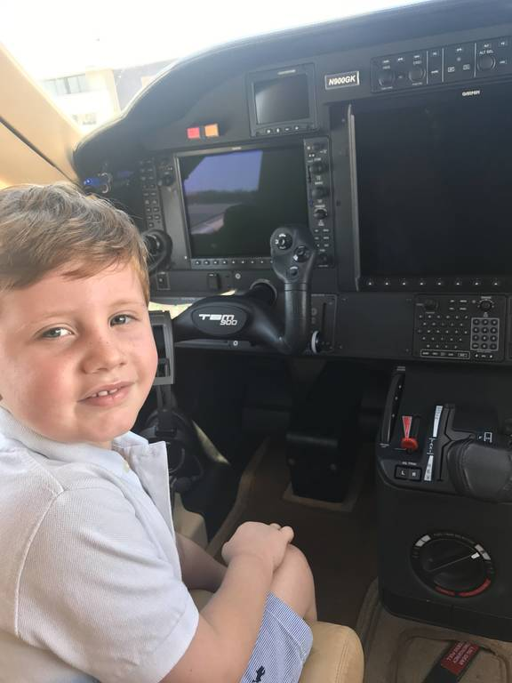 Chase at the controls
