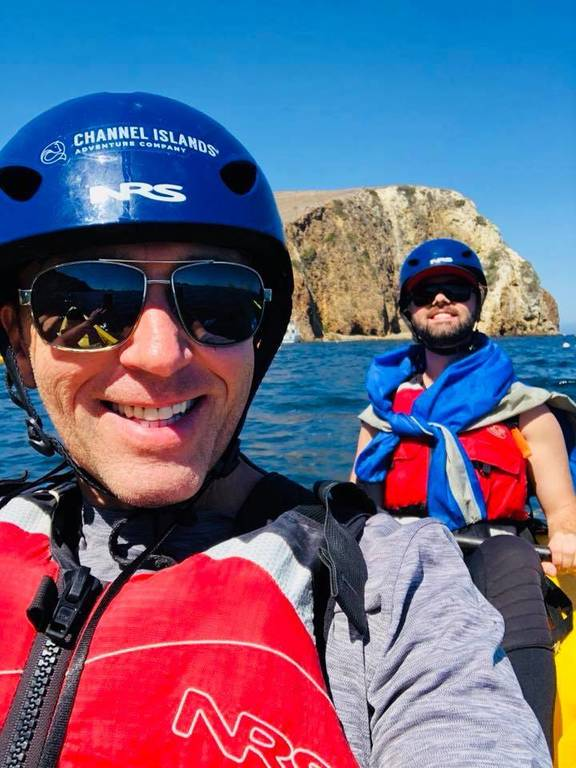 David & Zack on Santa Cruz Island