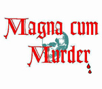 Magna cum Murder mystery conference logo.