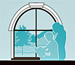 Logo of the Ruth Culver Community Library in Prairie du Sac, Wisconsin.