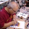 BINH PHO Airbrushing At CMW: Airbrushing by Binh Pho