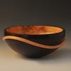 John Beaver Wave Bowl 3  3 X 6 Alder Dye: