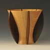 John Beaver Flying Rib Vase  7 X 6 She Oak Wenge: